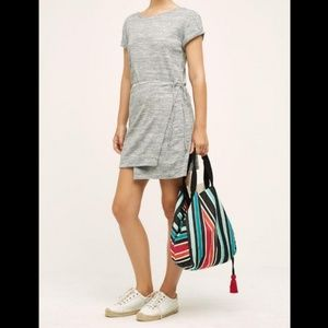 Anthropologie, Maeve Jersey tee wrap dress. Large